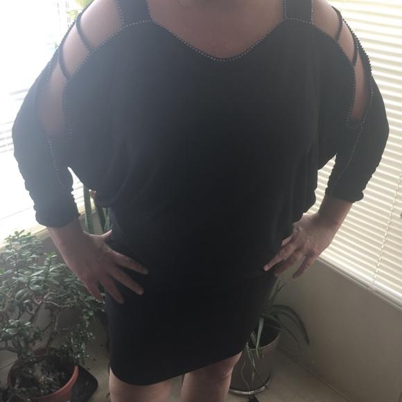 1b5e5df203ea5 DJ Jaz Dresses   Djjax Black Mini Dress With Crystal Accents   Poshmark